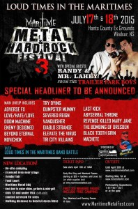 Maritime Metal & Hard Rock Fest @ Hants County Exhibition Park | Windsor | Nova Scotia | Canada
