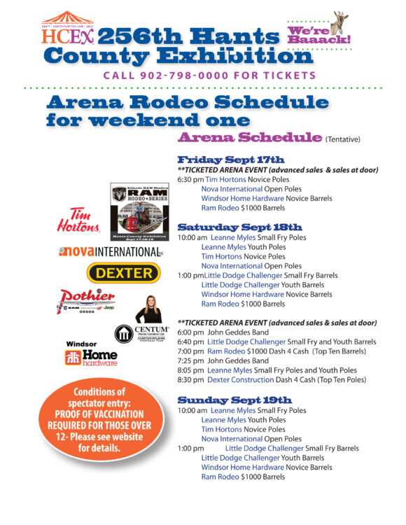 Arena Rodeo  Events Weekend 1 - Sept 17th, 18th & 19th